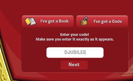 código solo funciona en el servidor ingles es DJUBILEE (una corona de
