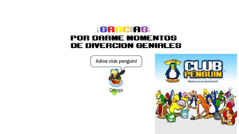 Adíos Club penguin