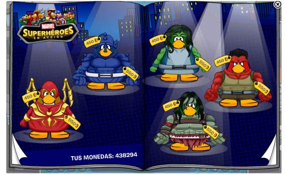 Club Penguin: Trucos y Guias de la fiesta Marvel Superheroes 2013 Abril