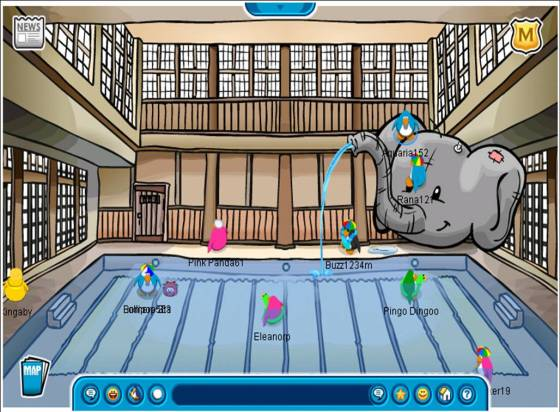 dojo-club-penguin water party 2006