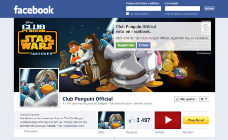 ¡Nuevo Estilo Star Wars en Twitter y Fan Page de Club Penguin!