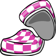 Purple Checkered Shoes