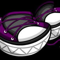 Purple Untied Sneakers