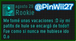 Nuevo Mensaje de Rookie 29/08/13