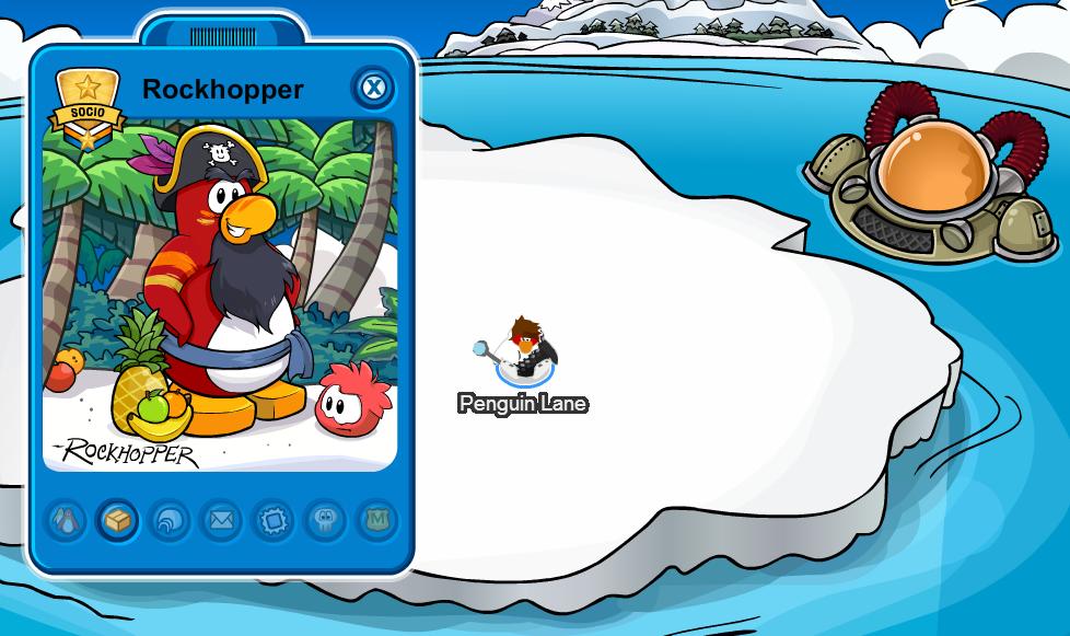 ... en la Playercard de Rockhopper | Club Penguin Secret | Trucos de
