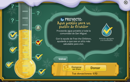 ¡Premio de Coins For Change: Pin de Agua Potable!