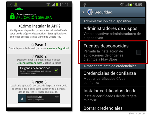 karma run android fuentes